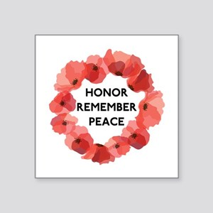 "Remembrance Day Square Sticker 3"" x 3"""